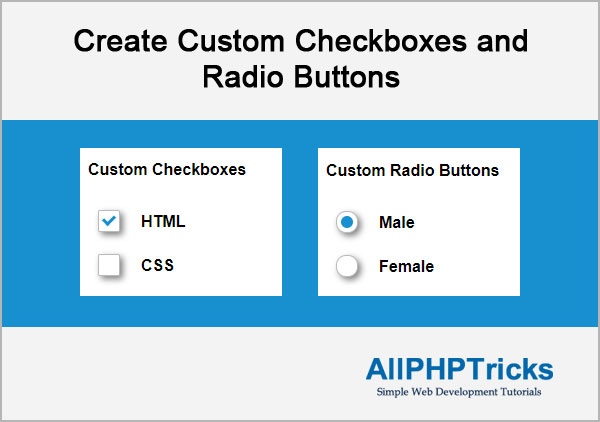 Create Custom Checkboxes and Radio Buttons